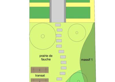 Plan masse Carvin jardin L&B